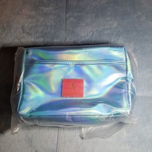 Jeffree Star blue holographic makeup bag